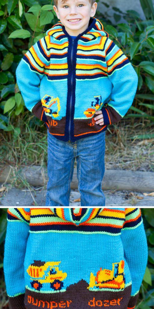 digger jacket for kids free crochet pattern
