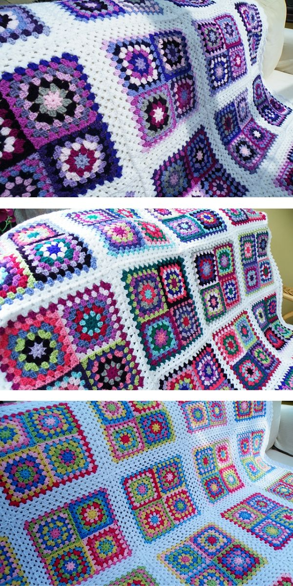 free crochet pattern: Giant Granny Patches