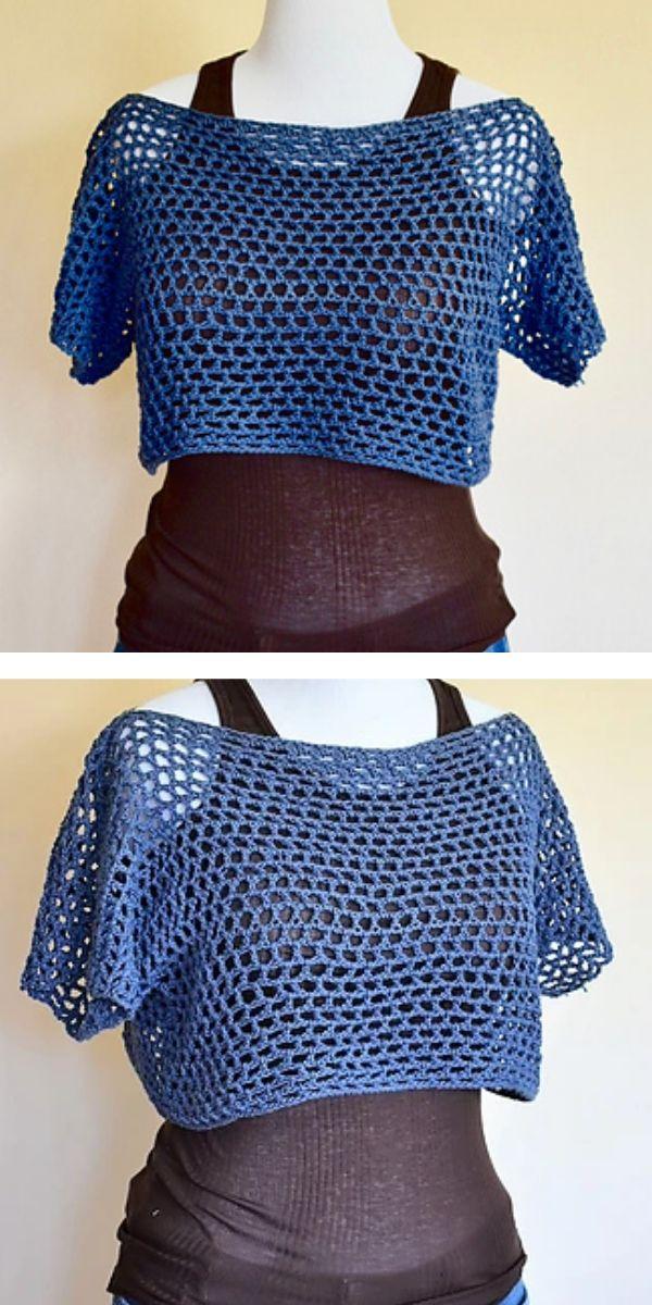 free crochet pattern: Honeycomb Top