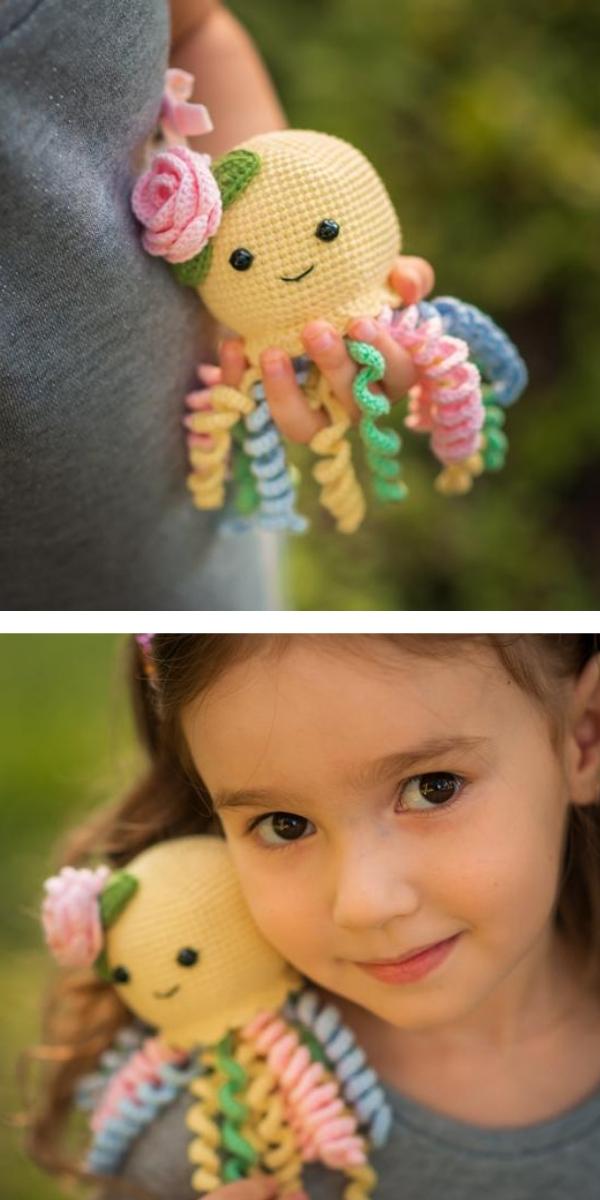 Rainbow Baby Octopus Crochet Pattern