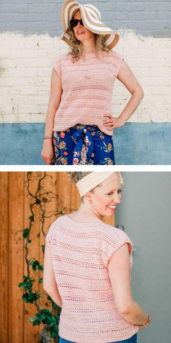 free crochet pattern: Girly Lightweight Tops