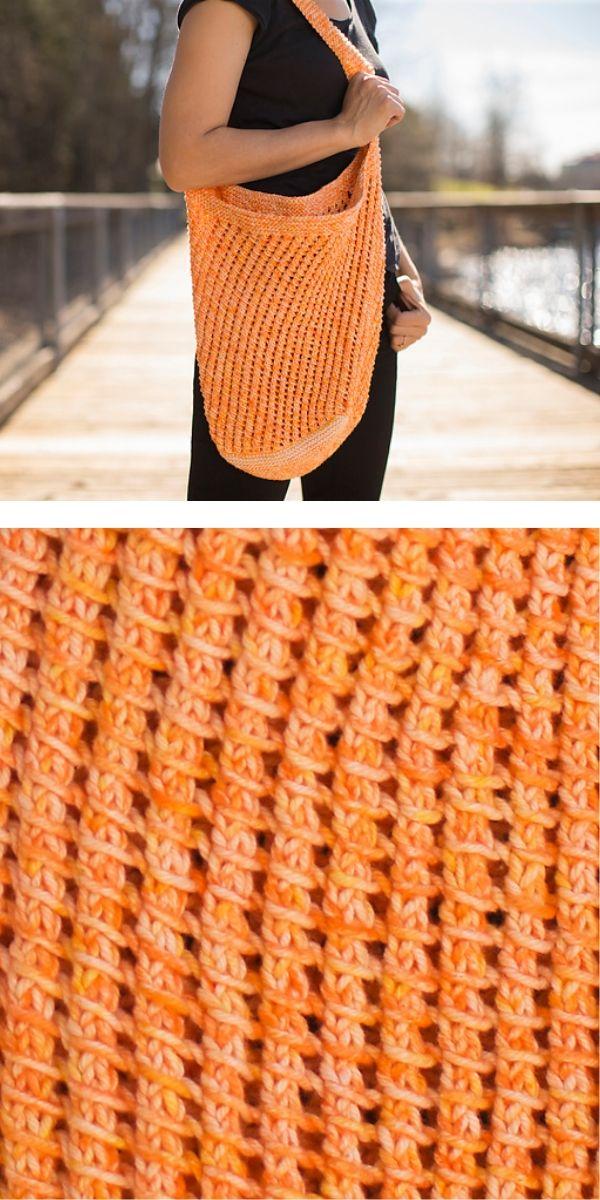 free knitting pattern: Weightless Eco-Friendly Bag