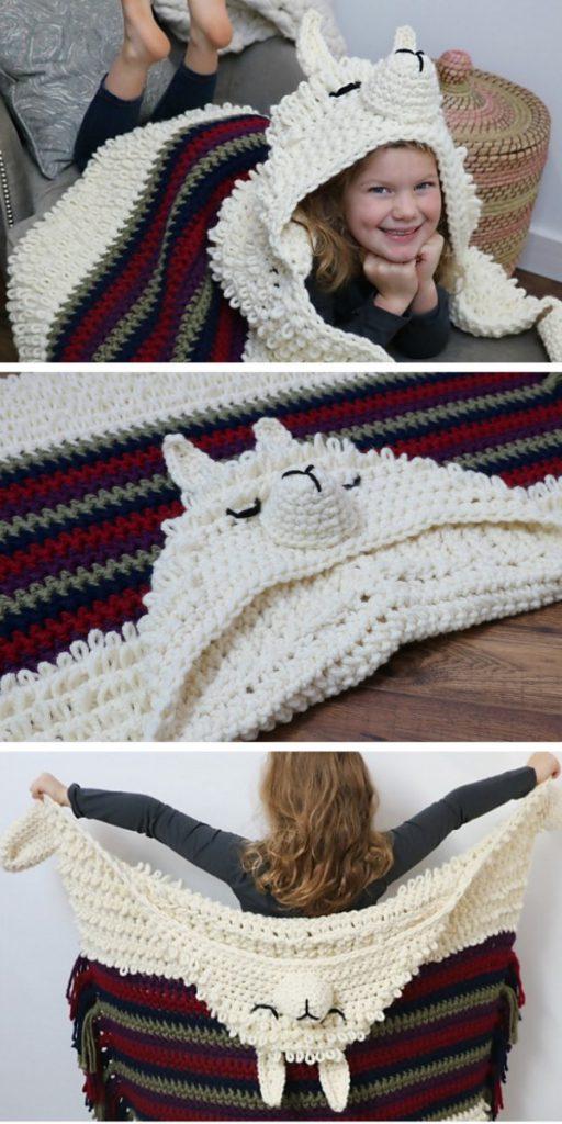 Alpaca my Llama Blanket Crochet Pattern