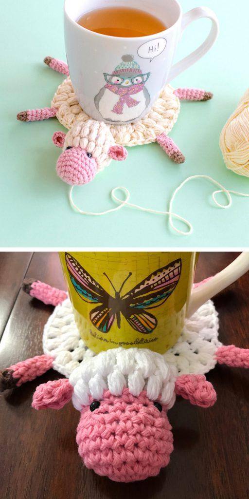 Amelia The Sheep Coaster Free Crochet Pattern