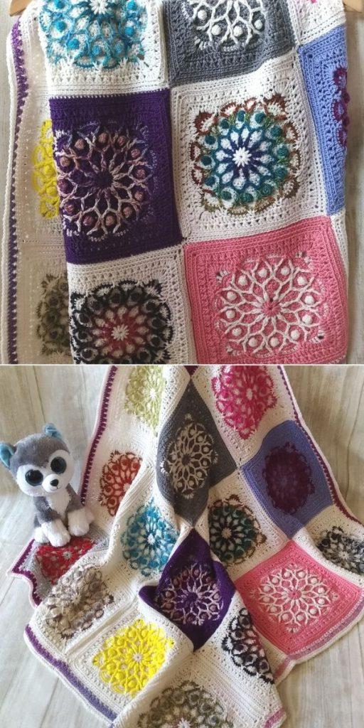 Casablanca Square - Baby blanket