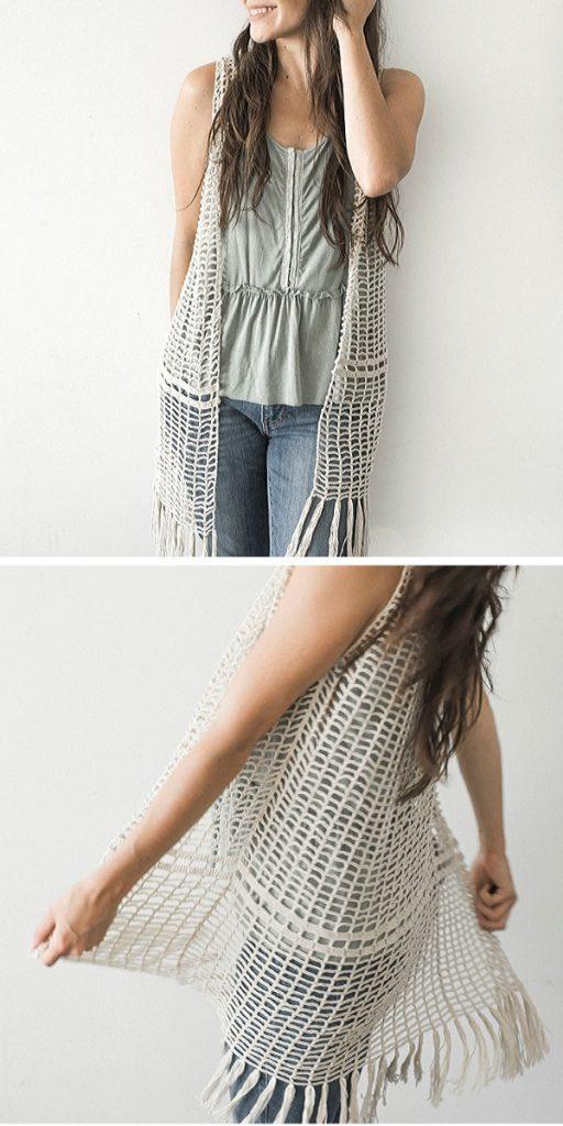 Daydreamer Crochet Vest Free Crochet Pattern