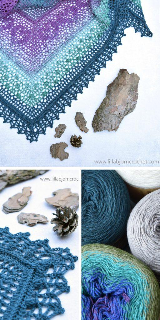 Grinda MAL Shawl Free Crochet Pattern