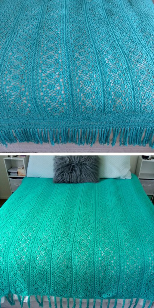 Irish Lace Blanket Free Crochet Pattern