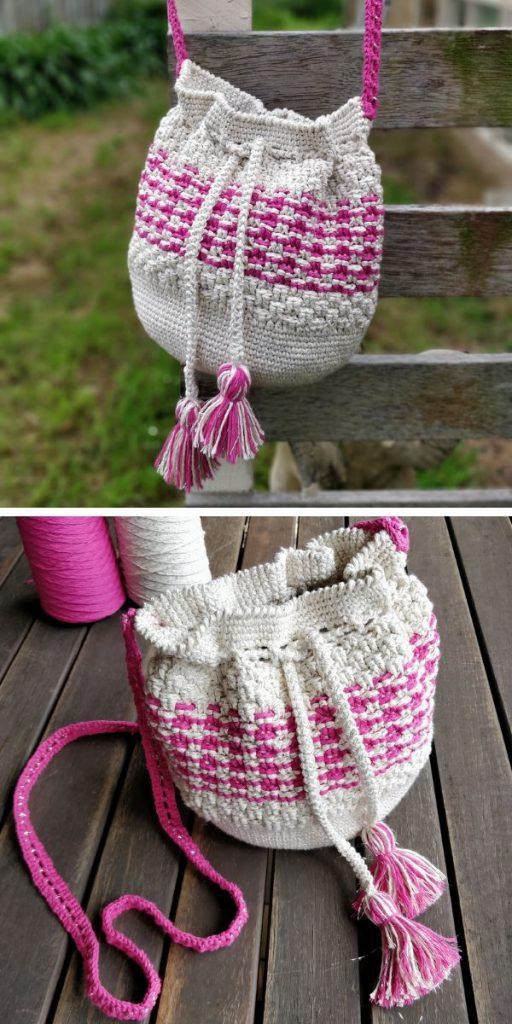 Little Woven Basket (LWB) Bag Crochet Pattern
