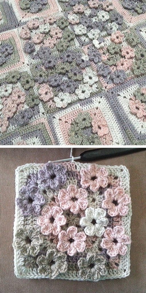 Meadow of Flowers Free Crochet Pattern