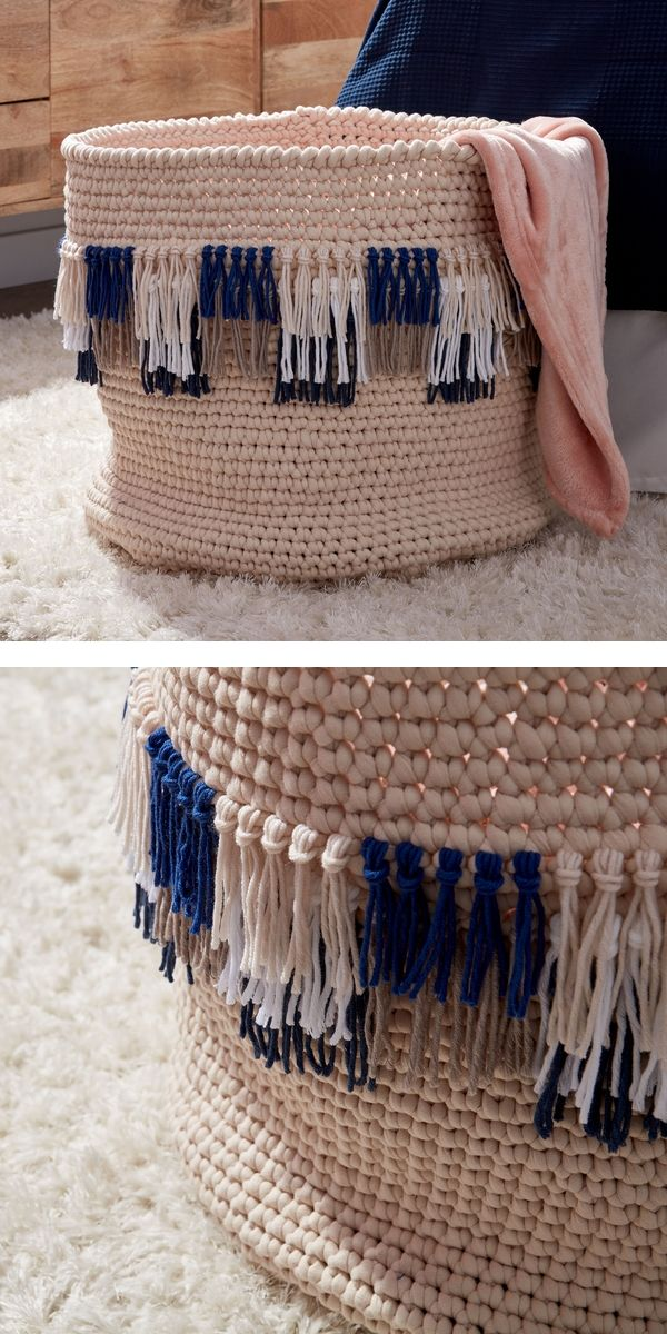 Free Crochet Pattern: Original Tassel Basket