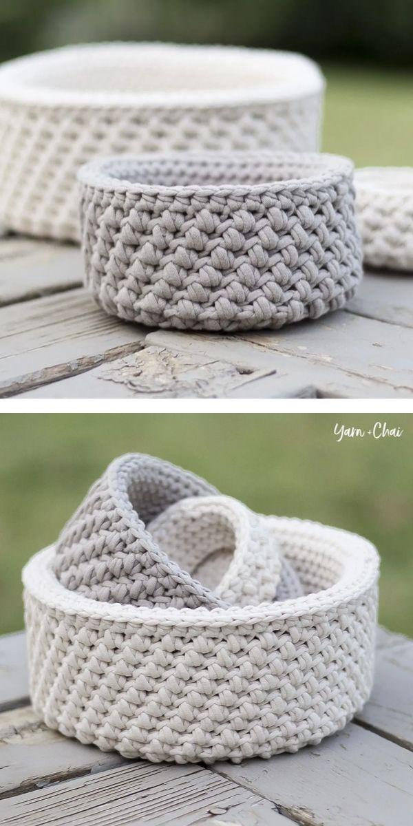 Free Crochet Pattern: Simple Minimalist Basket