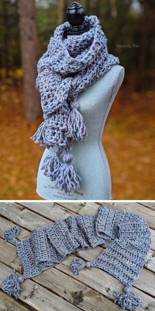 Ragged Falls Scarf Free Crochet Pattern