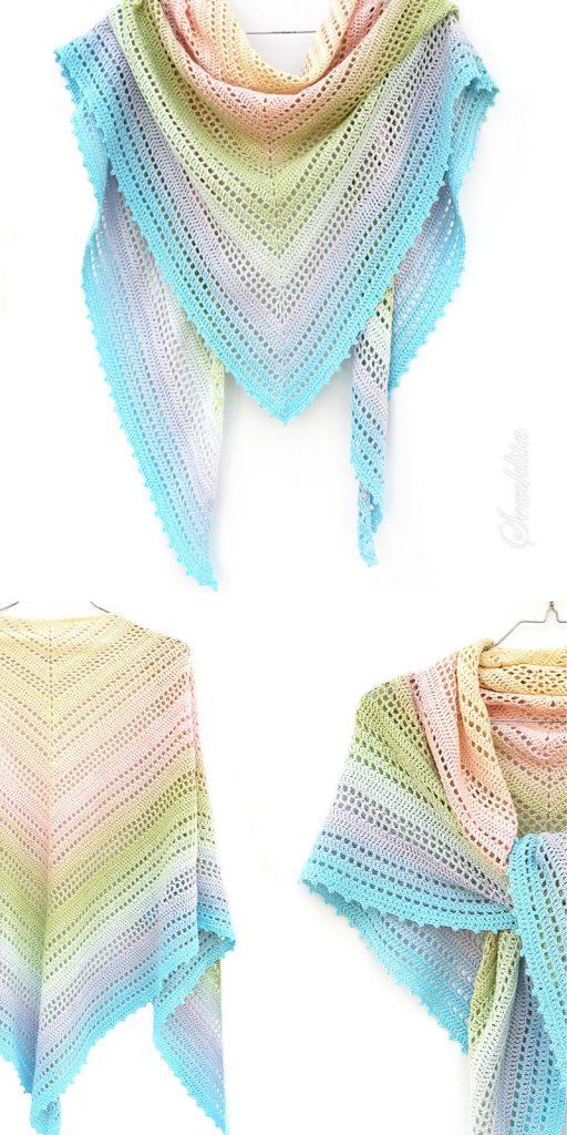 Summer Morning Shawl Free Crochet Pattern