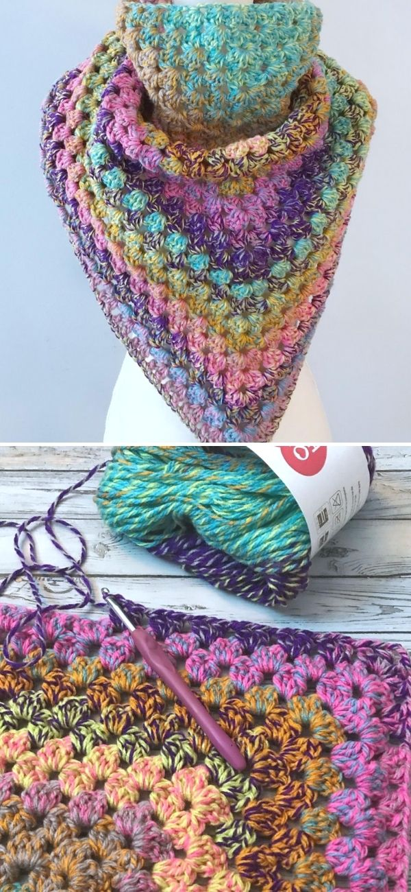 The Granny Vibes Triangle wrap