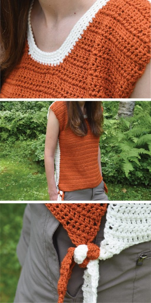 Two Tone Tee with Ties Free Crochet Pattern