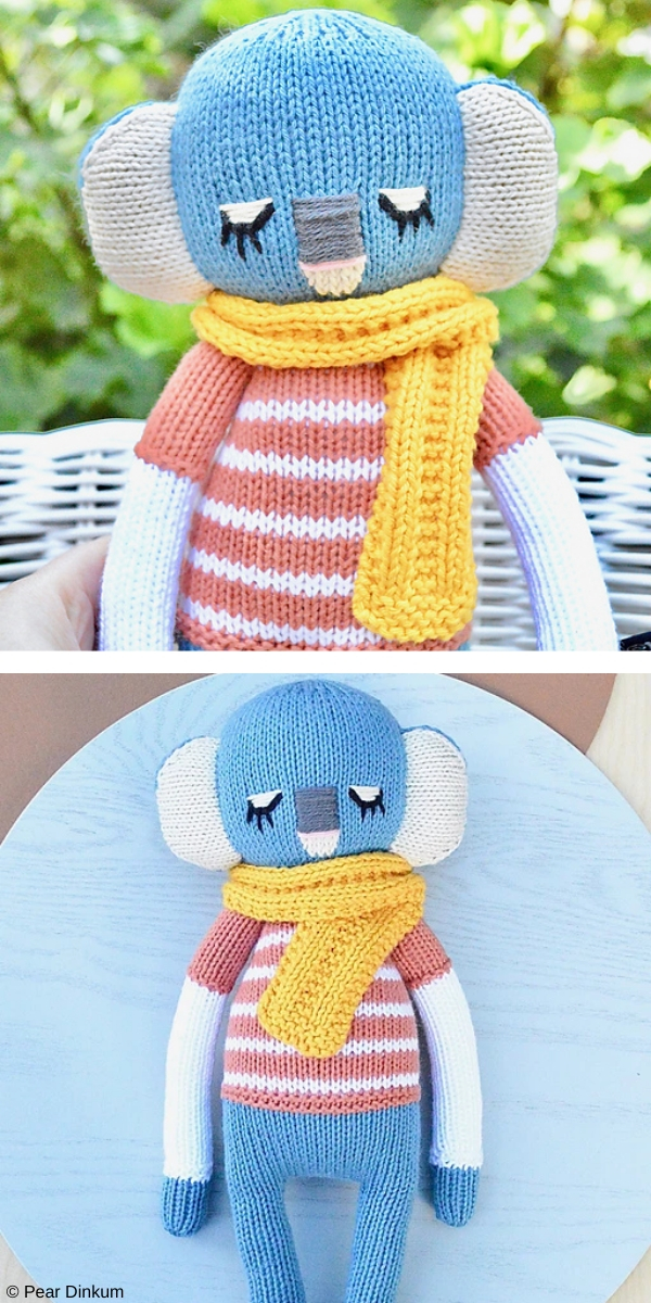 Cotton Koala Amigurumi Free Knitting Pattern