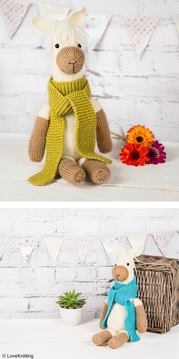 pax the alpaca Free Knitting Pattern
