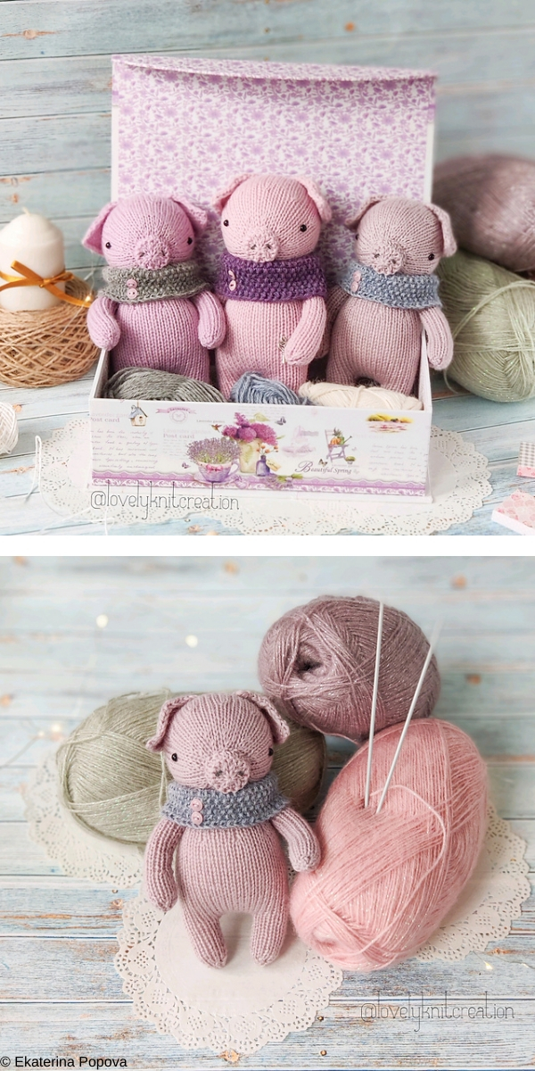 Daisy the little pig Free Knitting Pattern