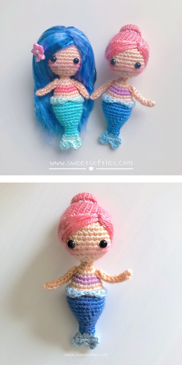 Coral the Baby Mermaid Free Crochet Pattern