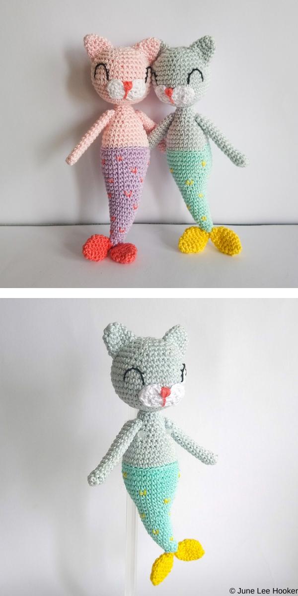 Mermaid Cat Doll Free Crochet Pattern