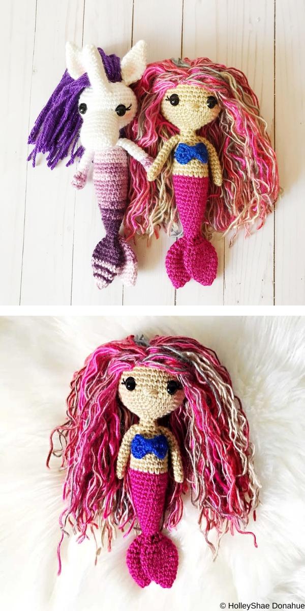 My Lovely Mermaid Set Free Crochet Pattern