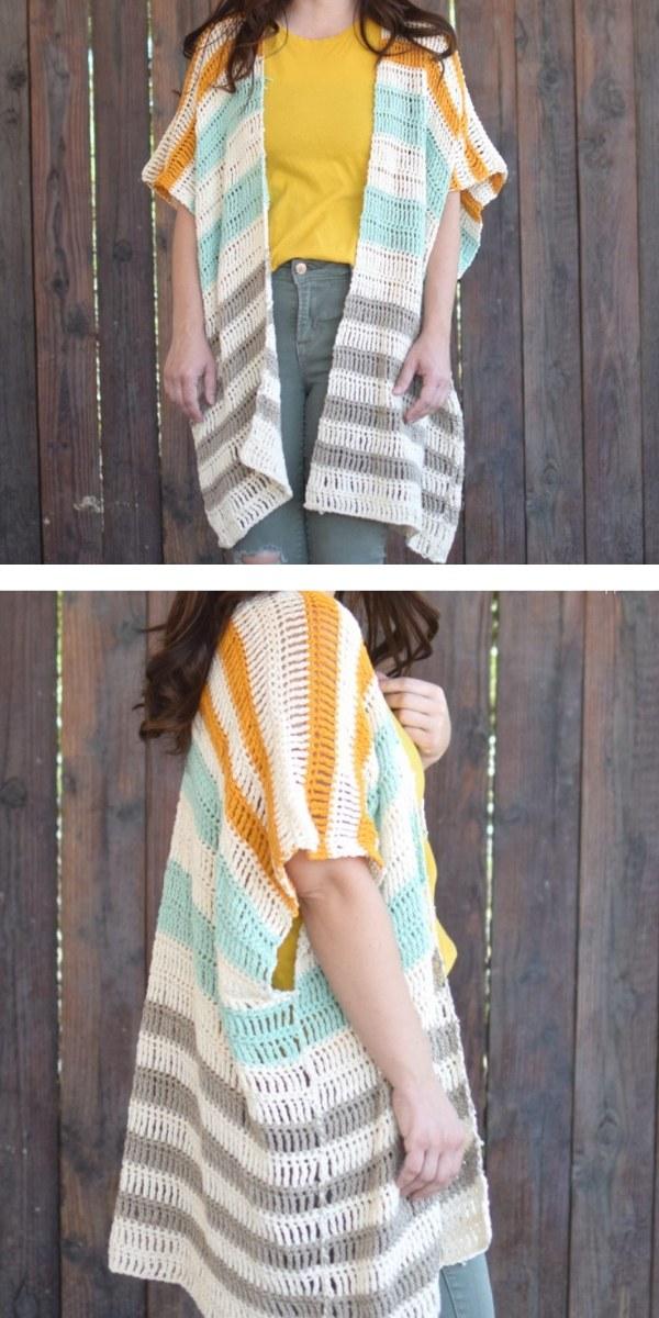 free crochet pattern: Bahama Mama Ruana
