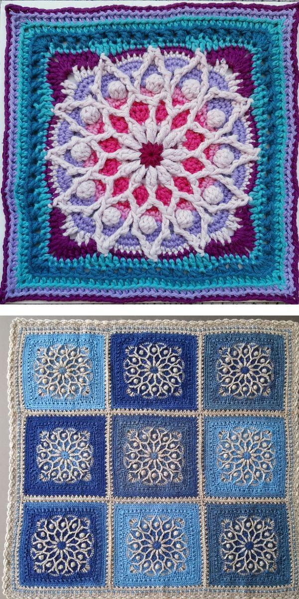 "free crochet pattern: Casablanca 12"" Square"