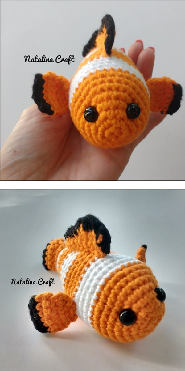 free crochet pattern: Clownfish Amigurumi