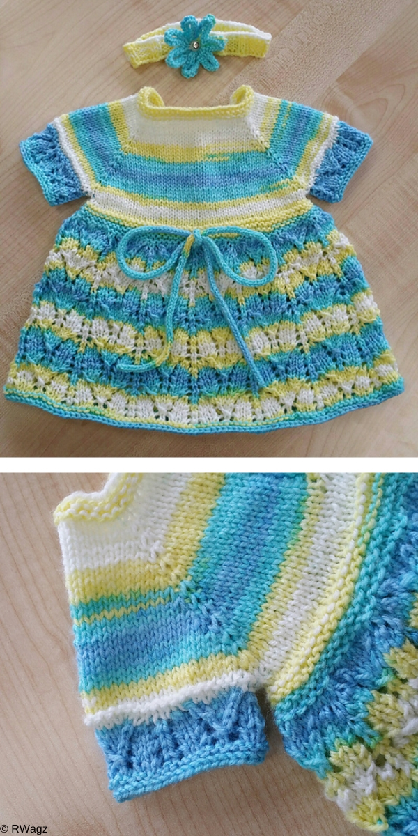 Cute Baby Dresses Knitting Patterns