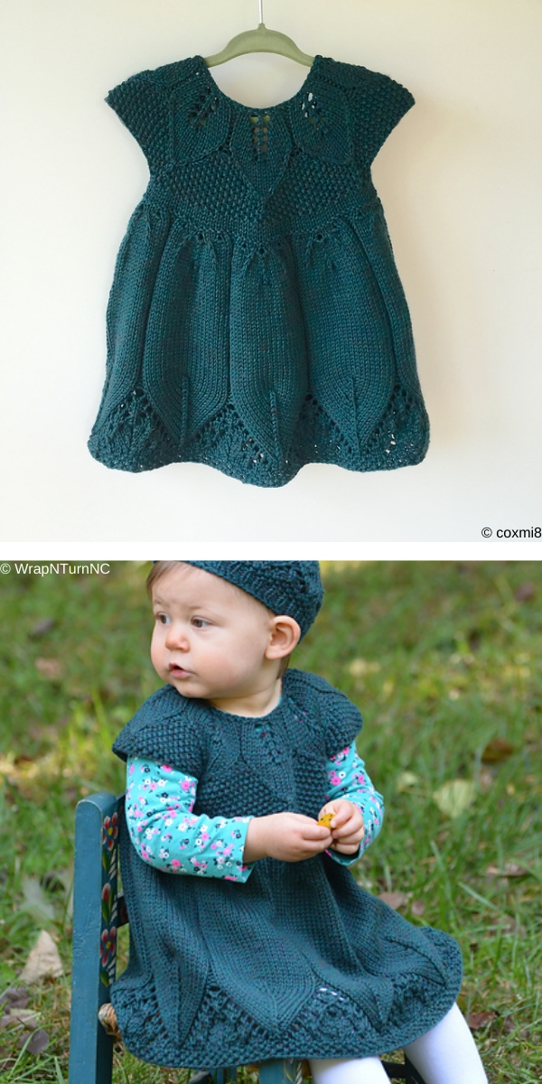 Eli Baby Dress Free Knitting Pattern