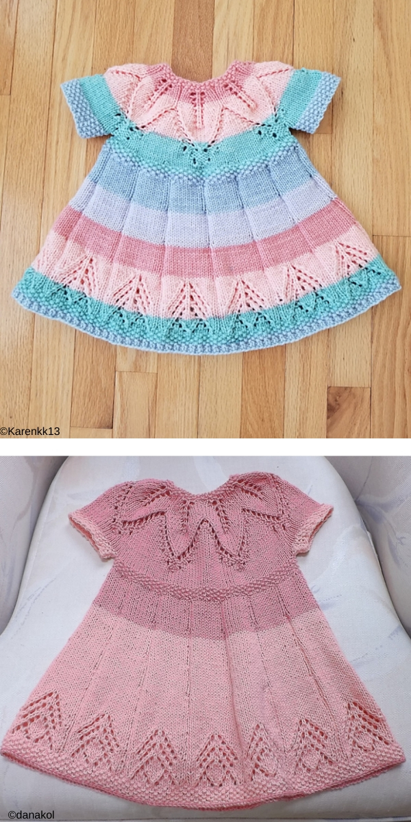 Fairy Leaves Dress Free knitting pattern