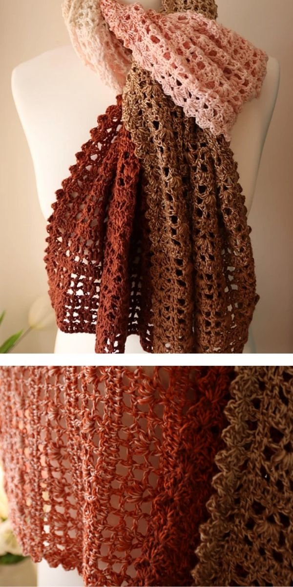 free crochet pattern: Stylish Shawl