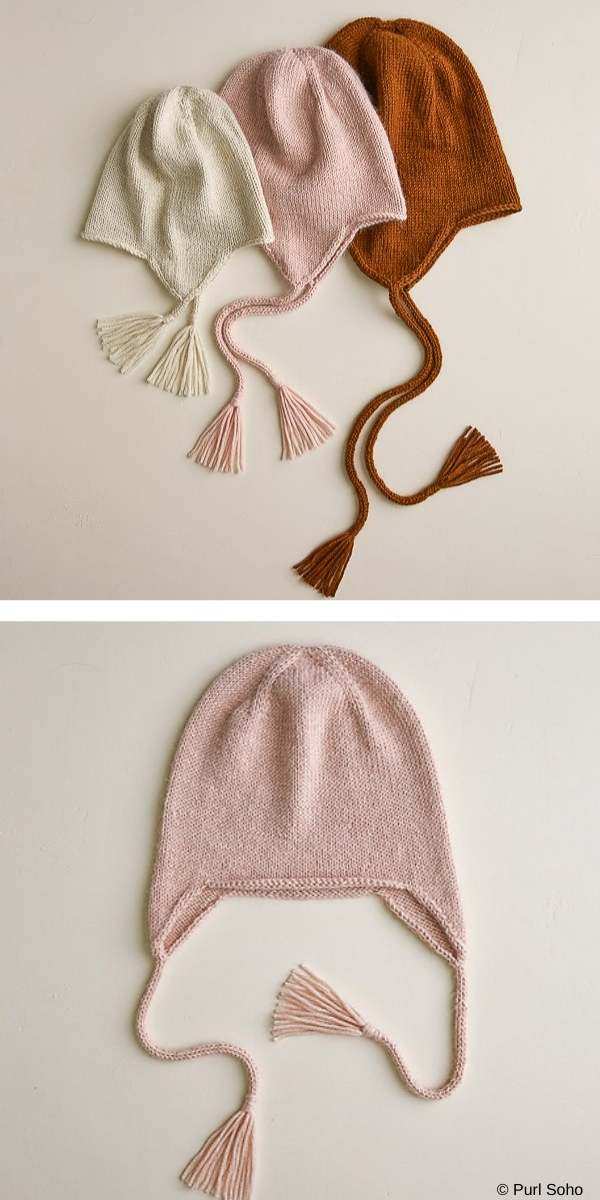 Light and pink hat on the white background