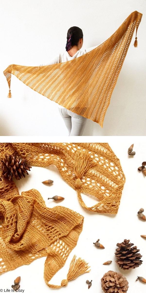 Stormy Sky Shawl free knitting pattern