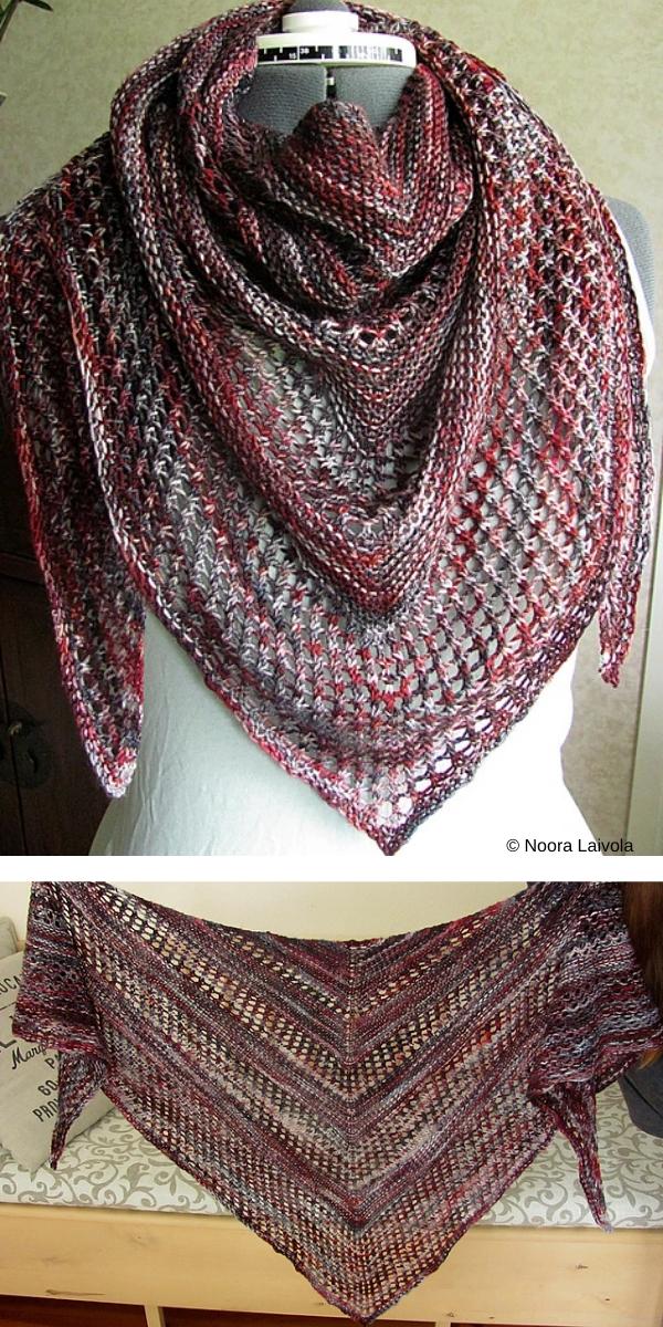 Reyna scarf free knitting pattern