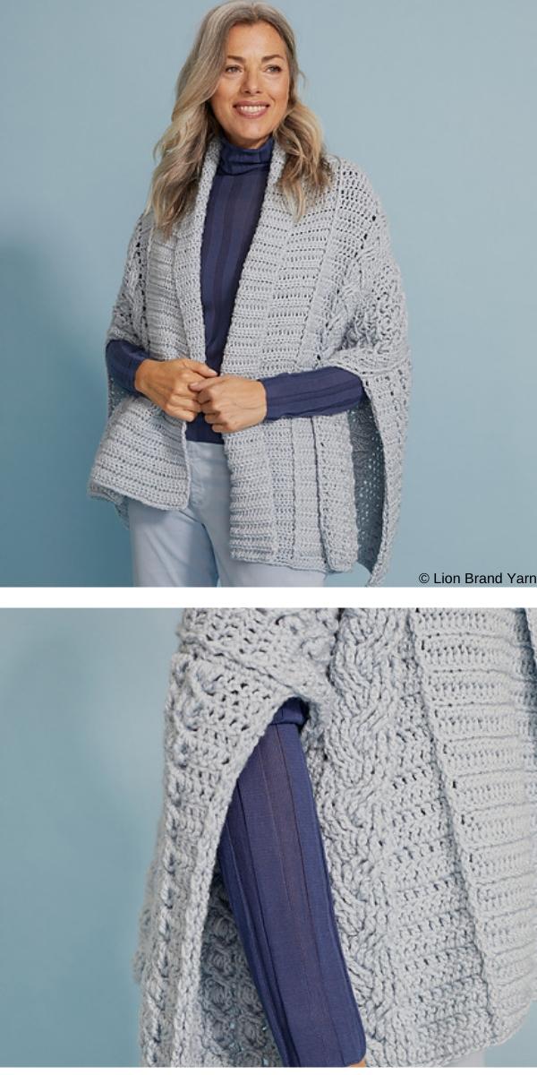 Evelina poncho Free Crochet Pattern