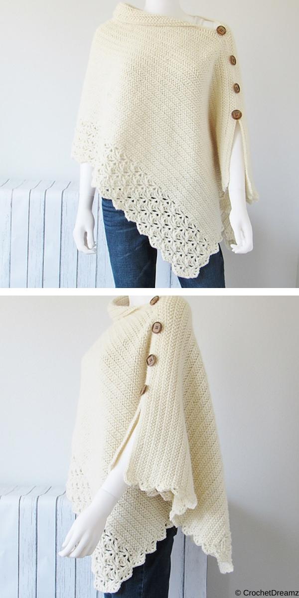 Uptown Poncho Free Crochet Pattern