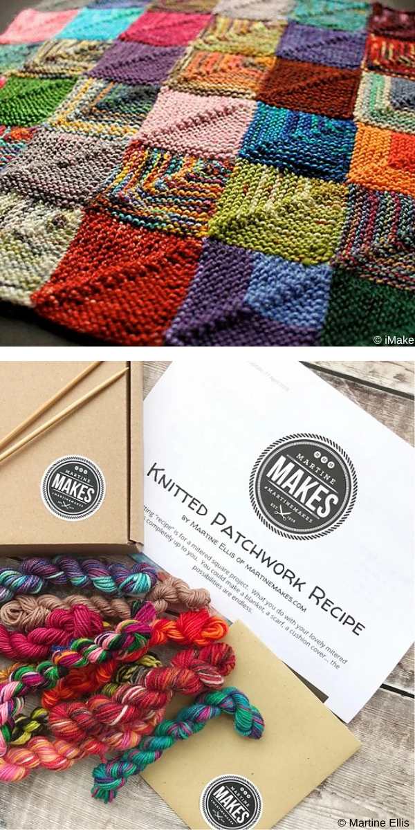 Knitted Patchwork Recipe free knitting pattern