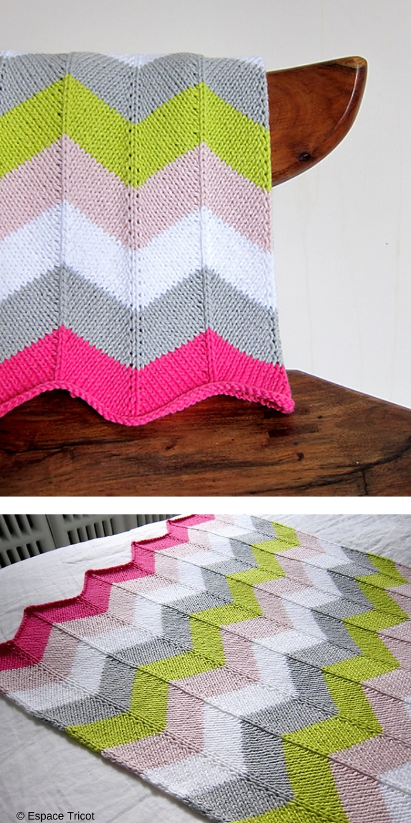 Zigzag colorful blankie