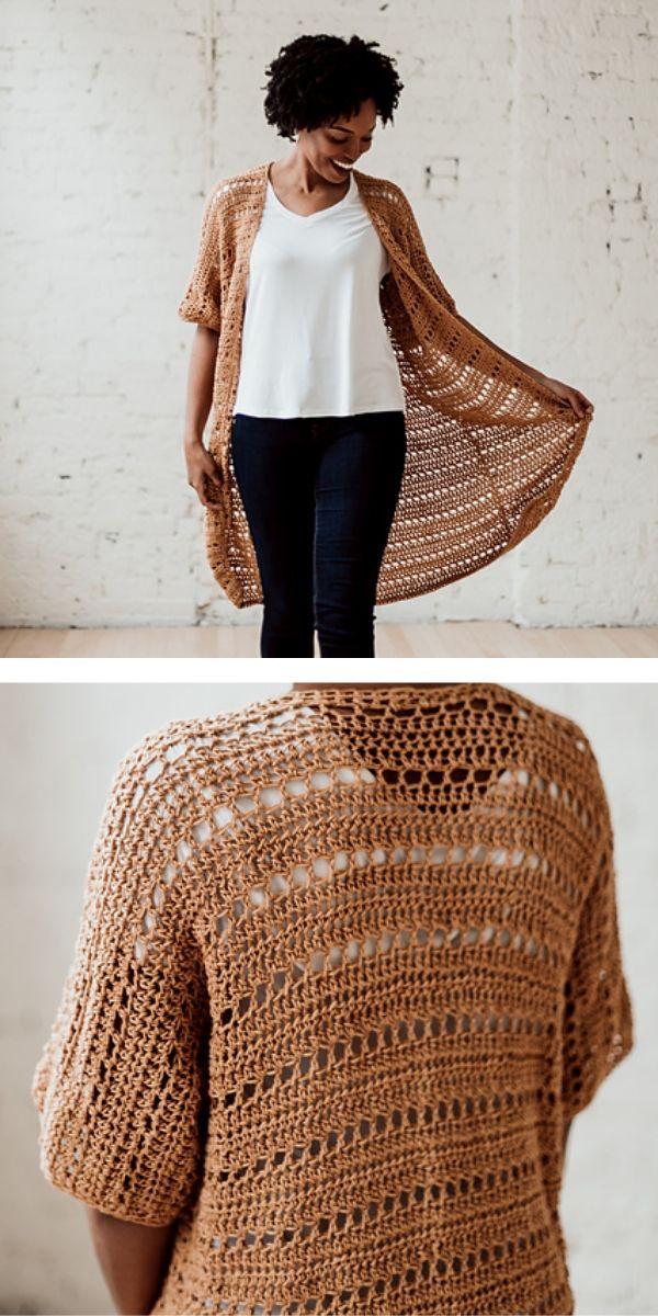 free crochet pattern: Woman Kimono