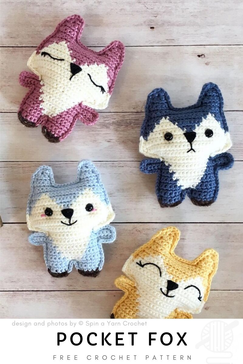 Pocket Fox Free Crochet Pattern