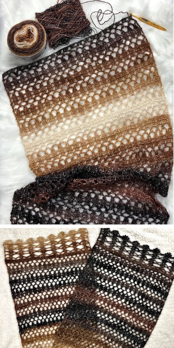 free crochet pattern: Soft Pebble Shawl