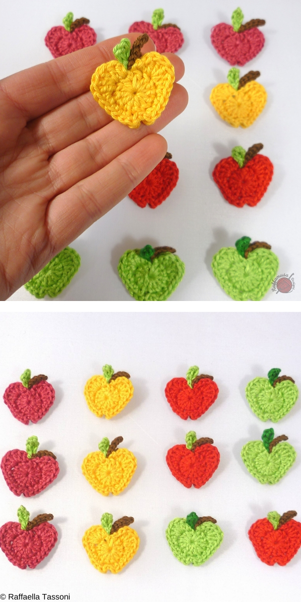 In Love with Apples Applique Free Crochet Pattern