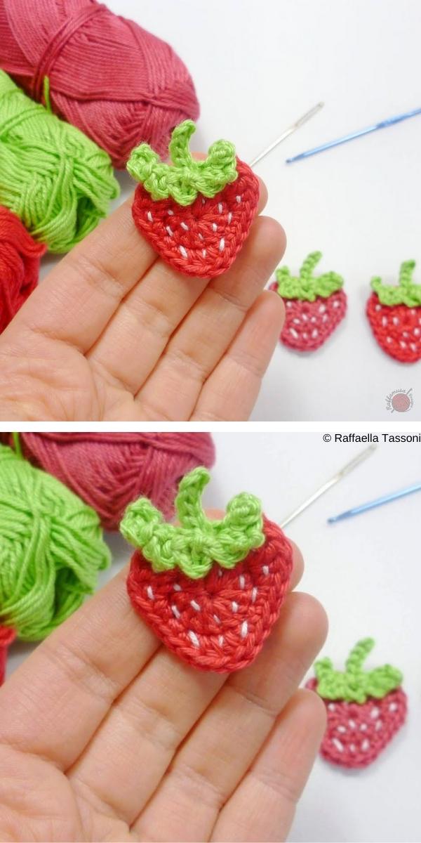 strawberry Applique Free Crochet Pattern