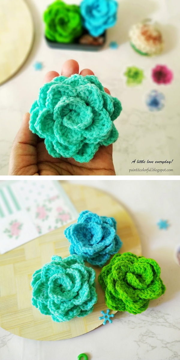 Crochet Succulents Free Crochet Pattern