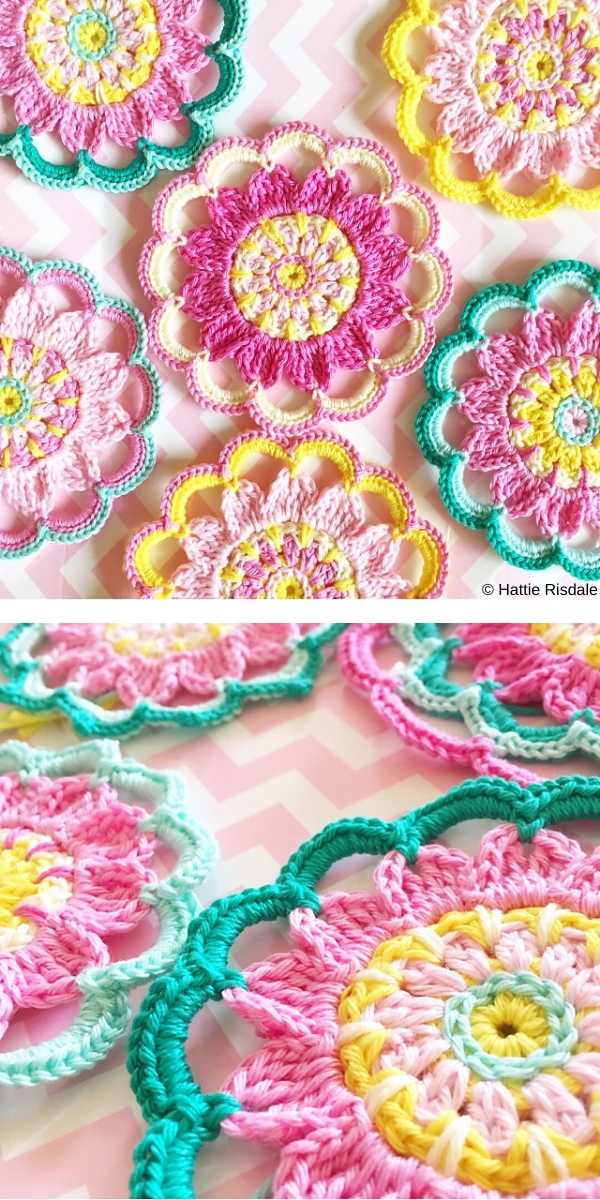 Happy Flower free crochet pattern