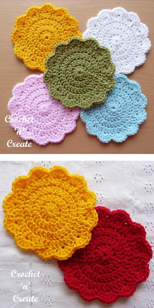 Circular Coaster free crochet pattern