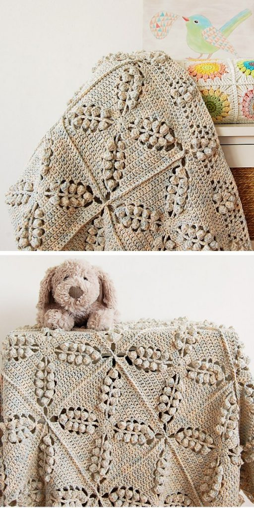 Norwegian Forest Blanket Free Crochet Pattern