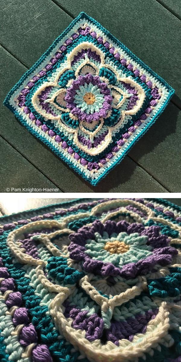 Free Crochet Pattern: Floral Blocks Kinnedy Nichelle